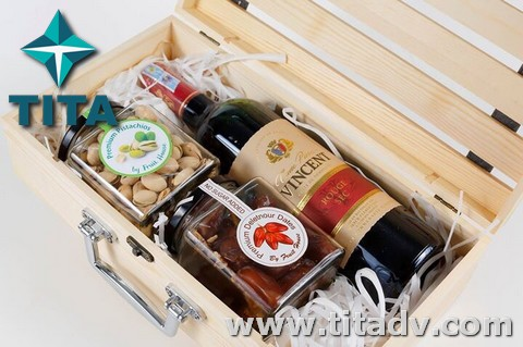 Hộp bánh mứt – hộp rượu gỗ