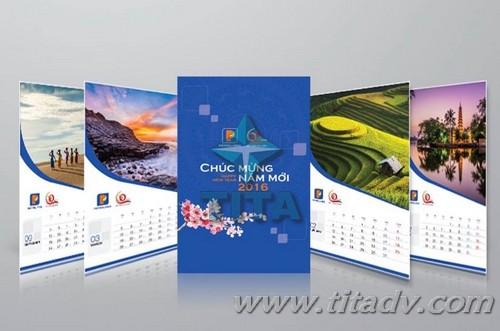 Thiết kế và in độc quyền lịch, thiệp, bao lì xì 2019 tại TITAdv